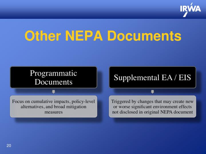 Other NEPA Documents