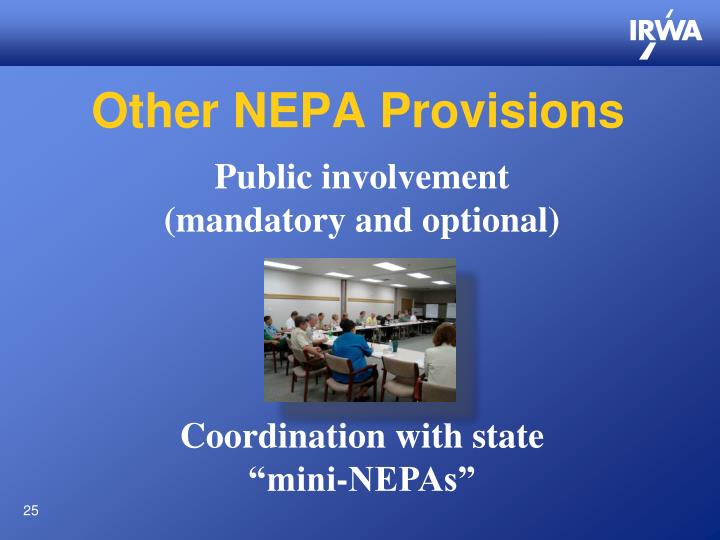 Other NEPA Provisions