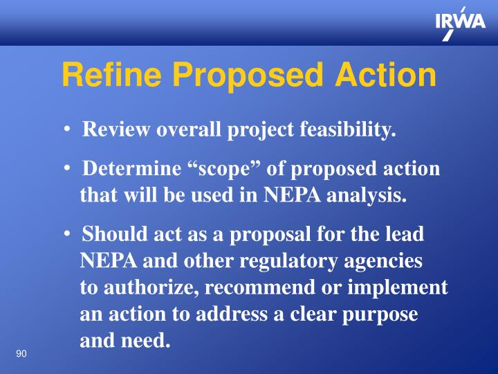 Refine Proposed Action