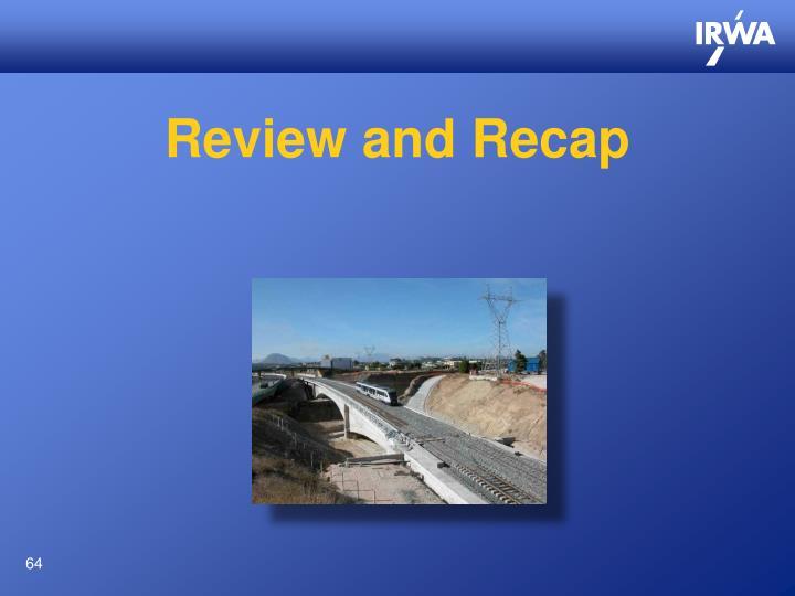 Review and Recap