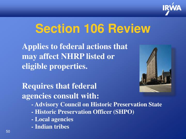 Section 106 Review