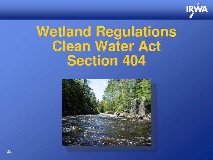 Wetland Regulations