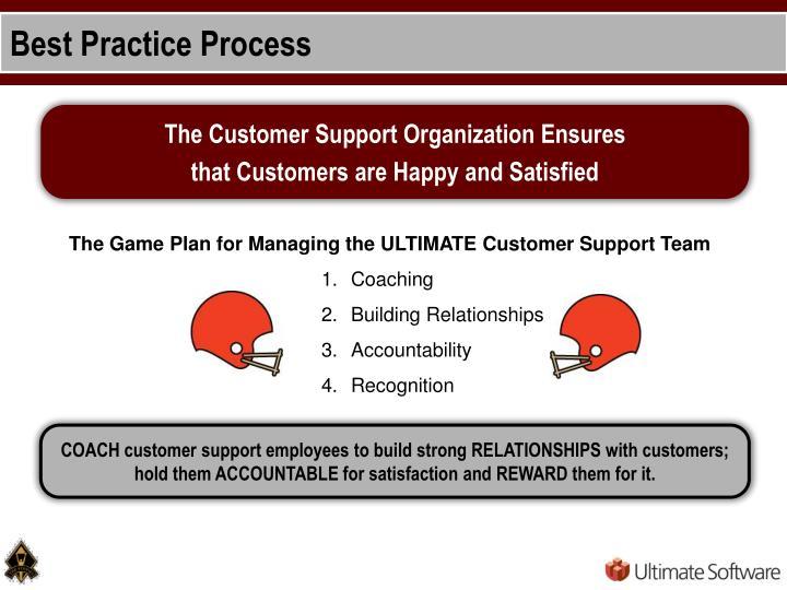 Best Practice Process