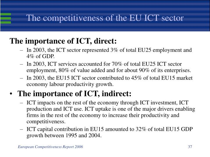 The competitiveness of the EU ICT sector