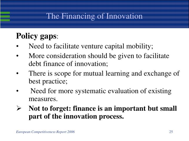 The Financing of Innovation