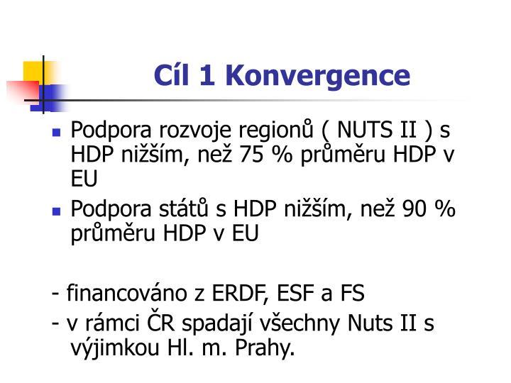 Cíl 1 Konvergence
