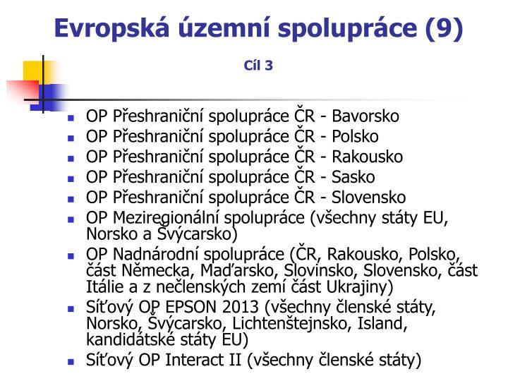 Evropská územní spolupráce (9)