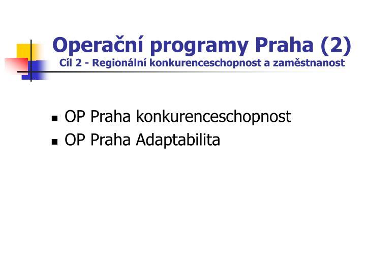 Operační programy Praha (2)