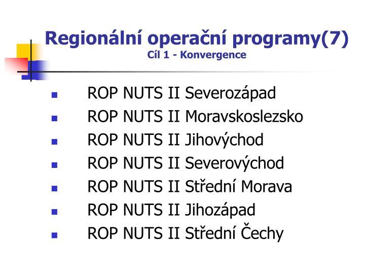 Regionální operační programy(7)
