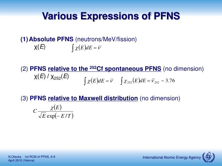 Various Expressions of PFNS