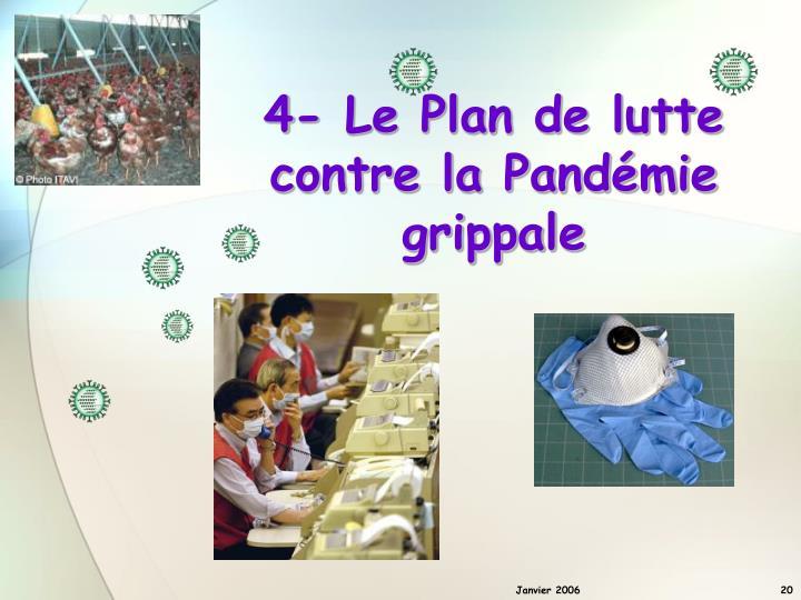 4- Le Plan de lutte contre la Pandémie grippale