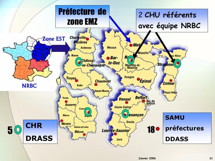 Préfecture  de zone EMZ