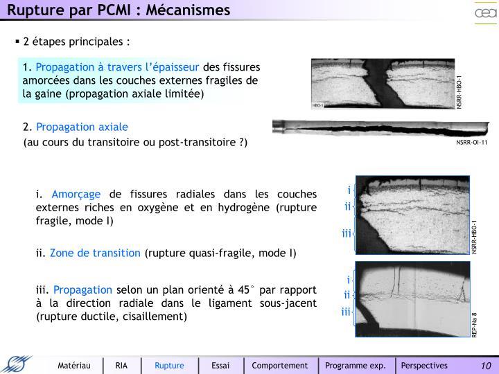 Rupture par PCMI : Mécanismes