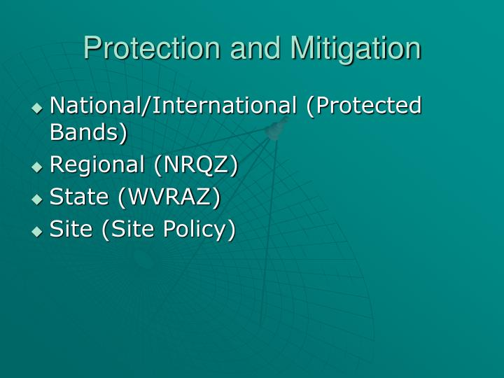 Protection and mitigation