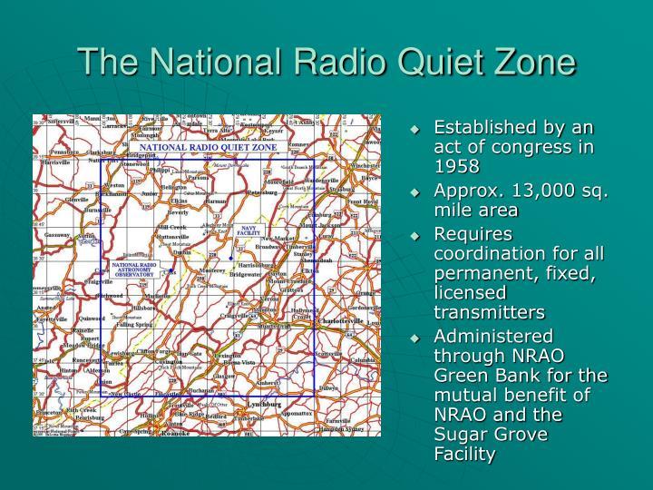 The National Radio Quiet Zone