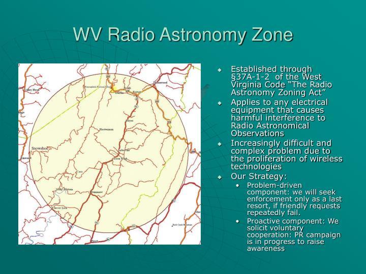 WV Radio Astronomy Zone