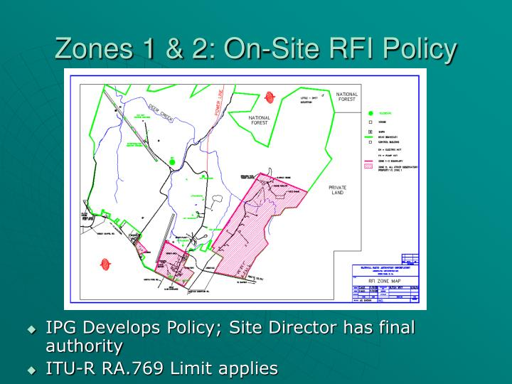 Zones 1 & 2: On-Site RFI Policy