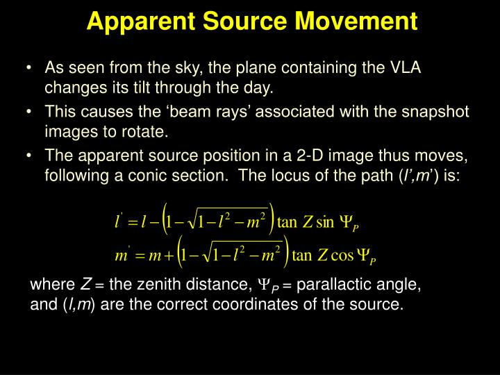Apparent Source Movement