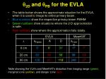 q 2d and q pb for the evla