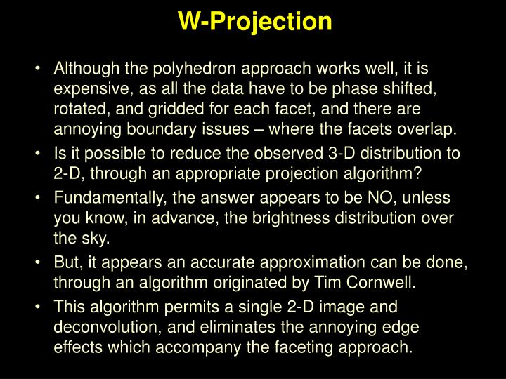 W-Projection
