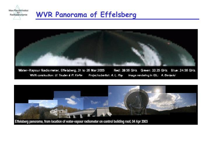 WVR Panorama of Effelsberg