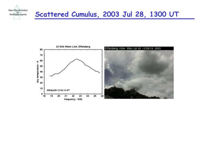 Scattered Cumulus, 2003 Jul 28, 1300 UT