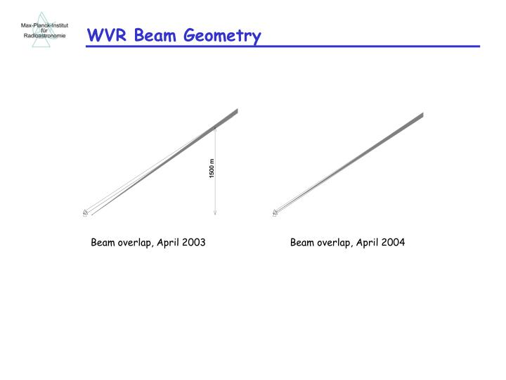 WVR Beam Geometry