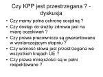 czy kpp jest przestrzegana dyskusja