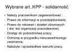 wybrane art kpp solidarno