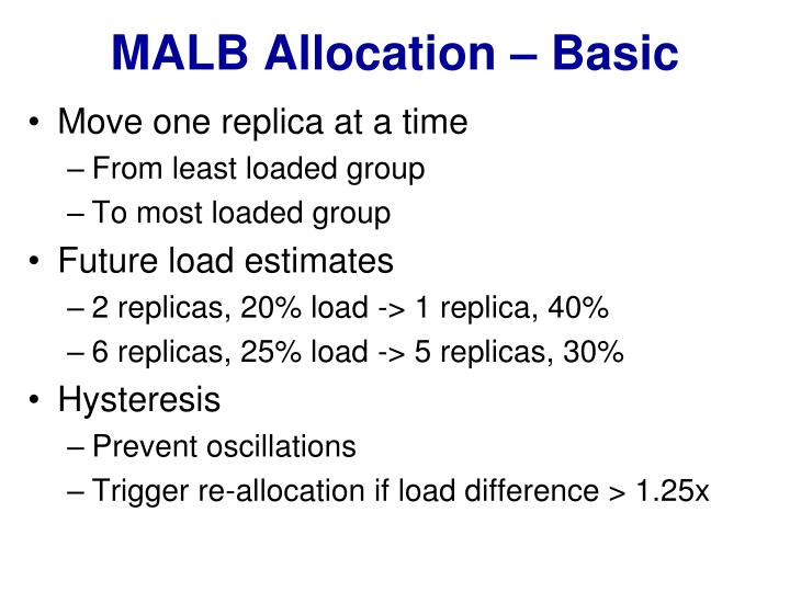 MALB Allocation – Basic