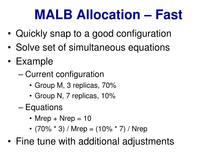 MALB Allocation – Fast