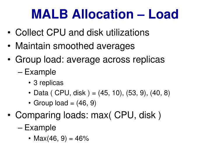 MALB Allocation – Load
