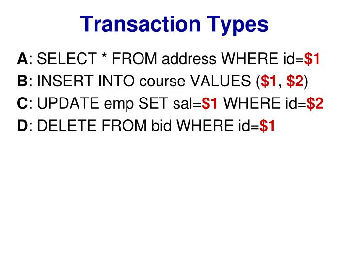 Transaction Types