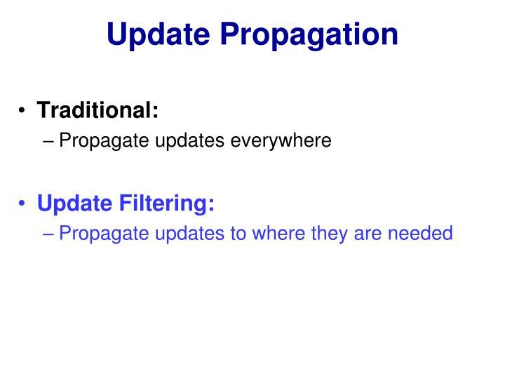 Update Propagation