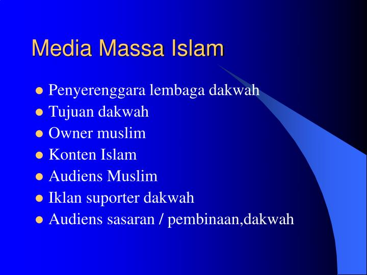 Media Massa Islam