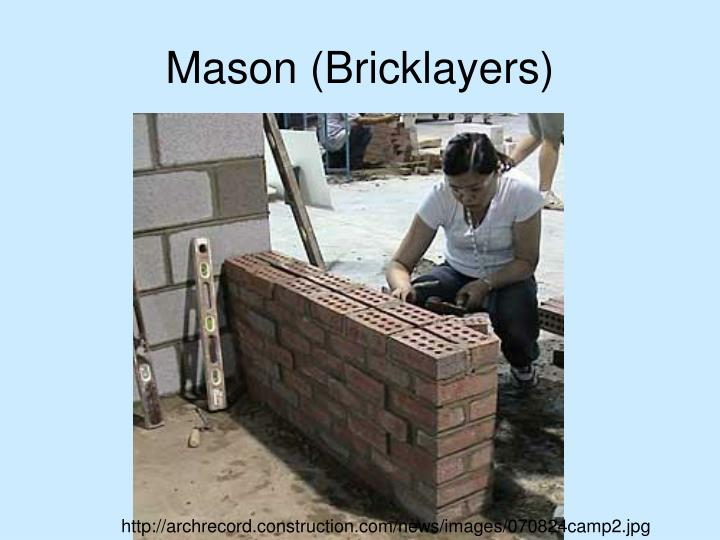 Mason (Bricklayers)