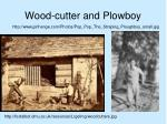 wood cutter and plowboy