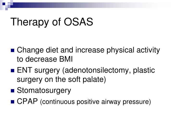 Therapy of OSAS