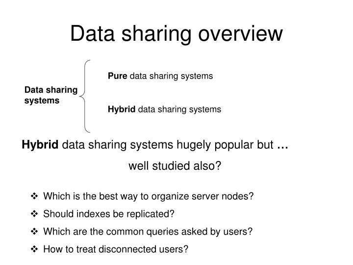 Data sharing overview