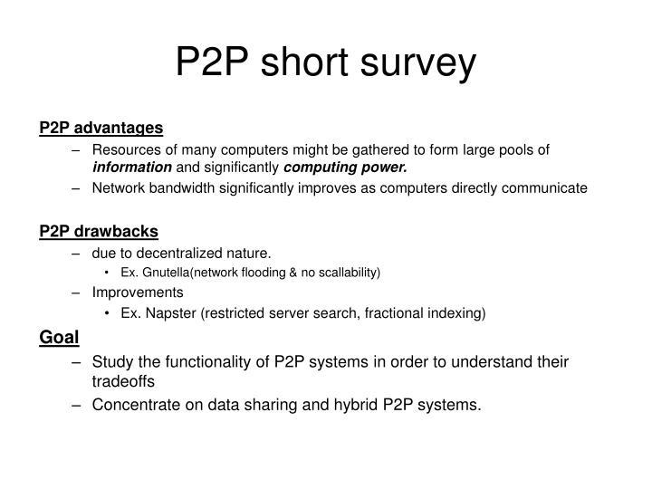 P2P short survey