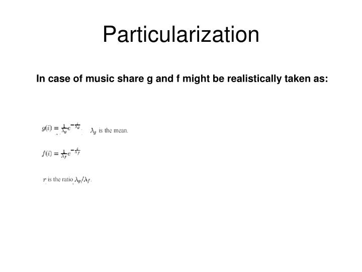 Particularization