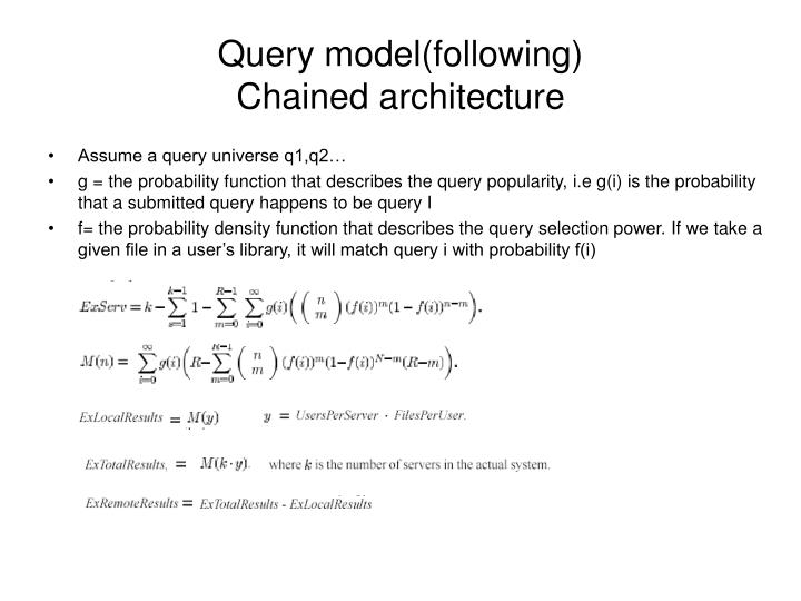 Query model(following)