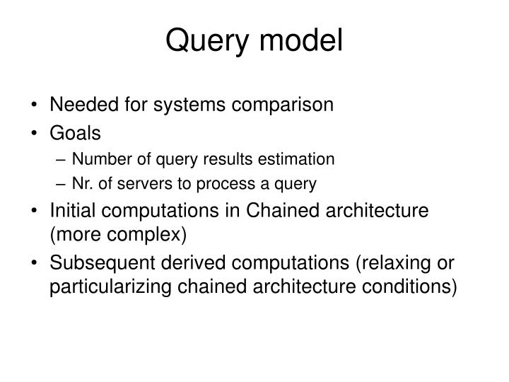 Query model