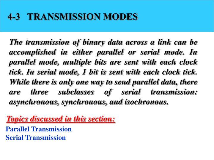 4-3   TRANSMISSION MODES
