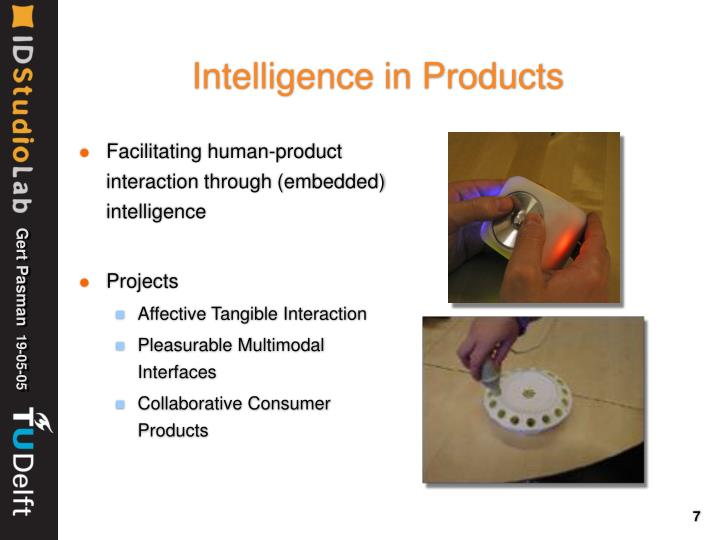 Intelligence in Products
