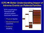 icps better understanding impact of adverse events on patients families
