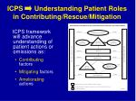 icps understanding patient roles in contributing rescue mitigation
