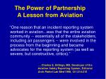 the power of partnership a lesson from aviation
