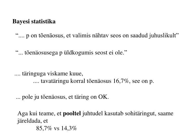 Bayesi statistika