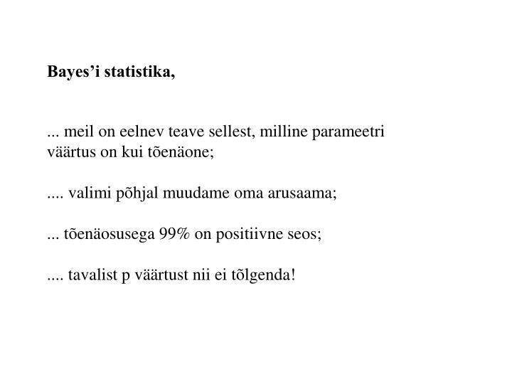 Bayes'i statistika,